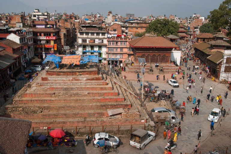 Widok na Durbar Square z dachu