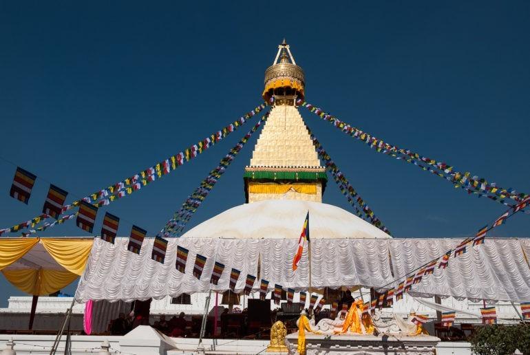 Świątynia Bodhnath, jedna najważniejszych buddyjskich świątyń w Katmandu