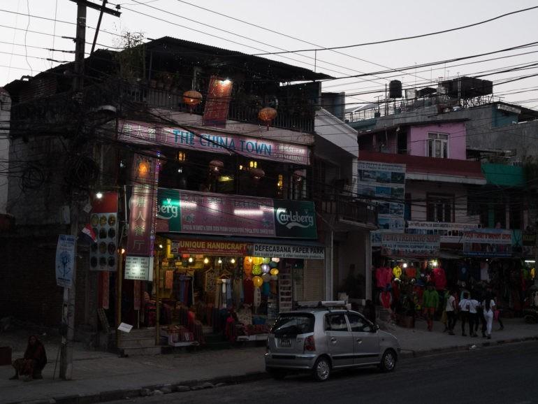 Pokhara wieczorem