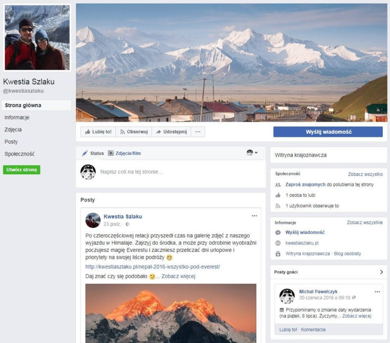Nasz profil w portalu Facebook