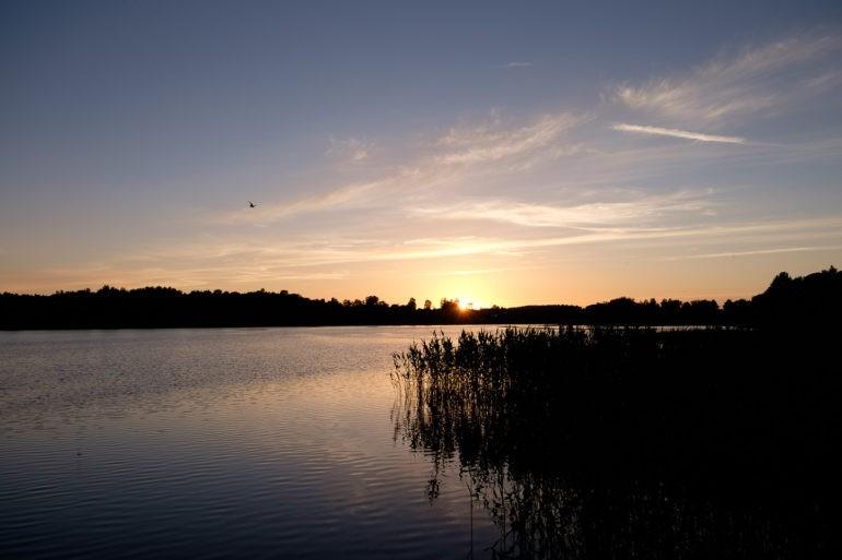 Zachód słońca w Trokach