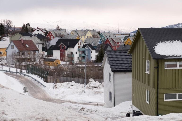 Ośnieżone ulice Tromsø