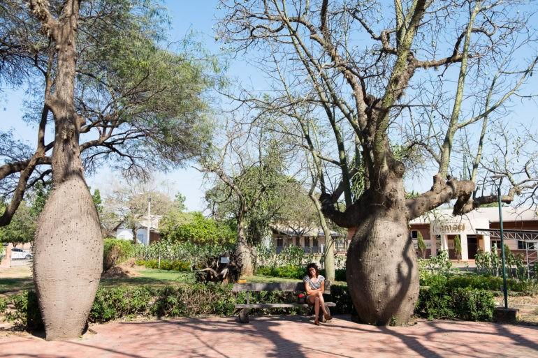 Gosia w parku w centrum Filadelfii