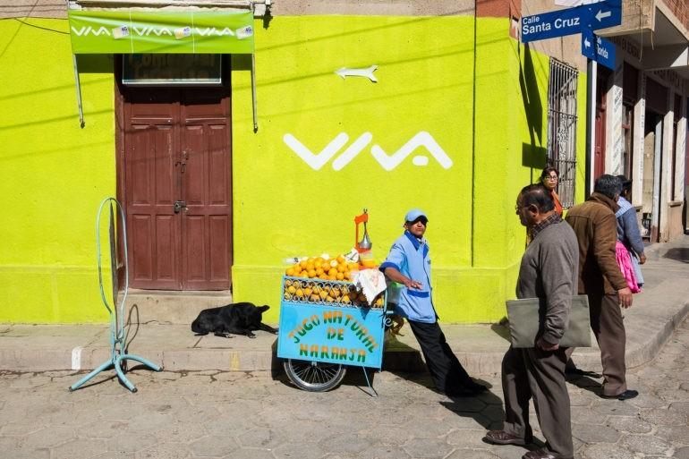 Świeży sok z pomarańczy znajdziesz z łatwością na ulicach Tupizy o każdej porze