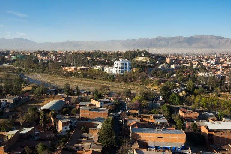Widok z punktu widokowego w Tarija (Mirador de los Suenos)