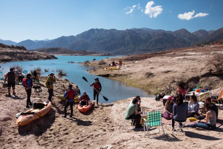 Niedzielne aktywności nad zalewem Potrerillos
