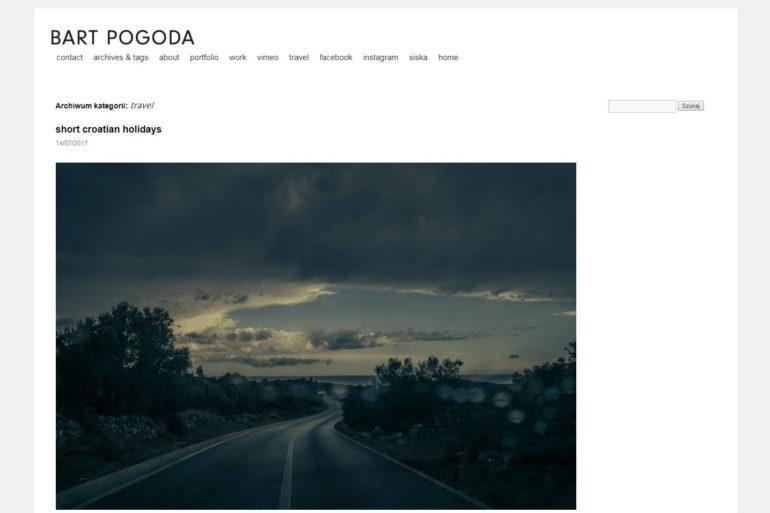 Zrzut ekranu bloga Bart Pogoda
