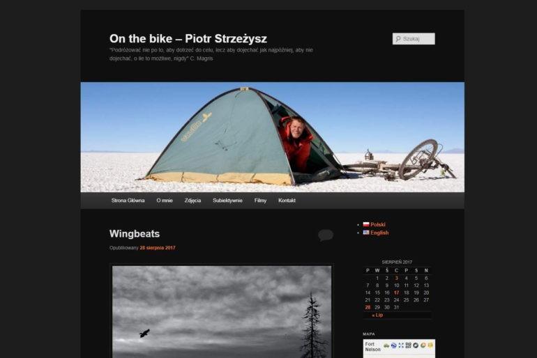 Zrzut ekranu bloga On the bike