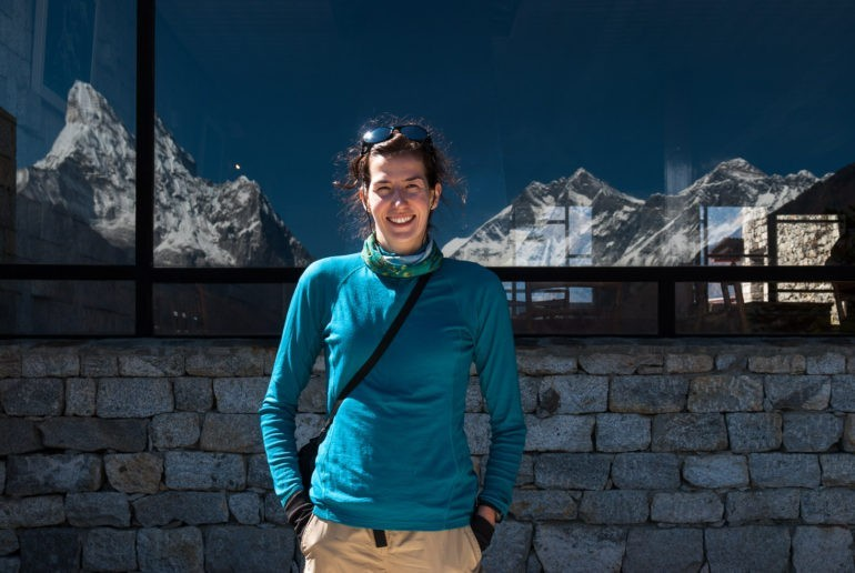 Gosia w Hotelu Everest View