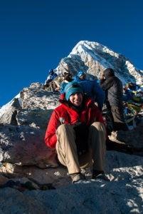 Gosia na szczycie Kala Patthar