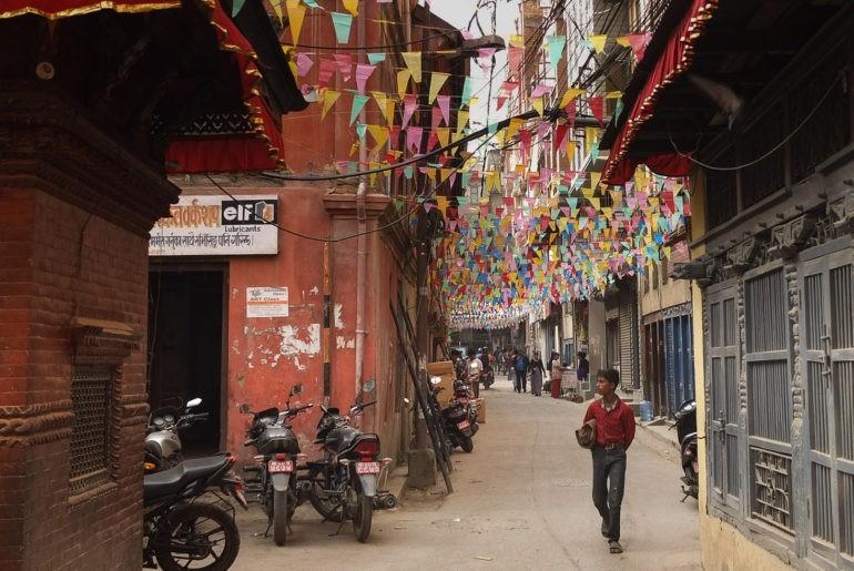 Wracamy ulicami Kathmandu