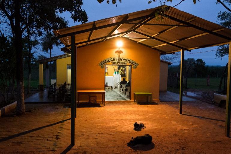 Psy często przychodzą na mszę w Paragwaju