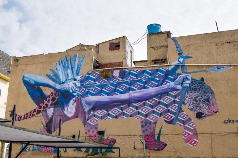 Mural w centrum Asunción