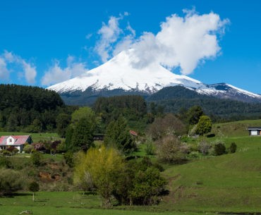 Wulkan Osorno, który towarzyszył nam przez dłuższy odcinek trasy