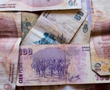 Banknoty Argentyńskiego peso.