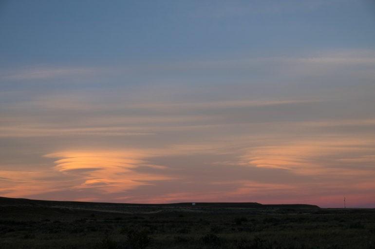 Kosmiczne chmury w drodze do El Calafate