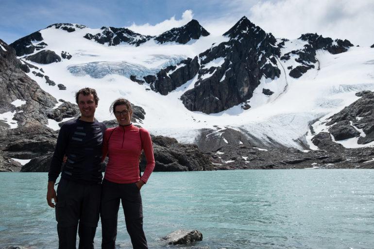 Lodowiec Vinciguerra i jezioro de los Témpanos
