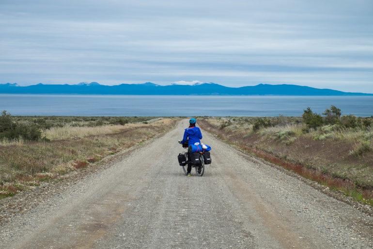 W Patagonii nawet bez przewyższeń pedałowanie bywa trudne