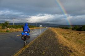 Tęcza w drodze do Puerto Natales