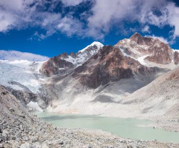 Laguna Glaciar, koniec naszego szlaku powyżej 5000 metrów