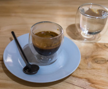 Espresso w jednej w lepszych kawiarni w Cusco
