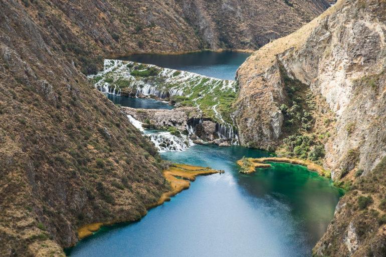 Wodospady za wioską Huancaya