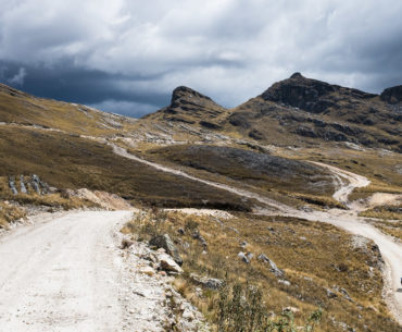Podjazd w górach przed Huamachuco