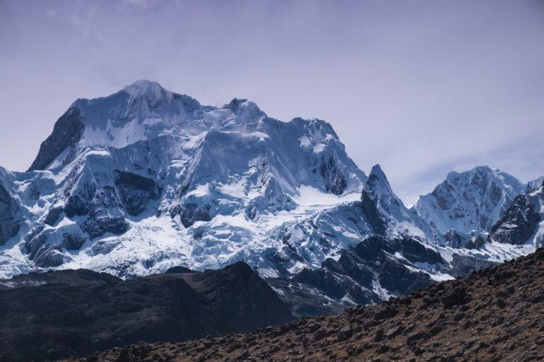 Yerupajá (6635 m), najwyższy szczyt Kordyliery Huayhuash