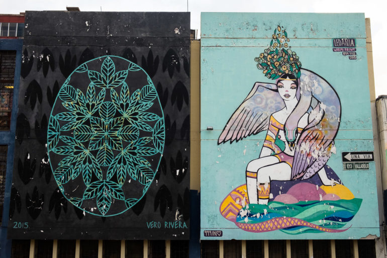 Street Art w dzielnicy La Floresta