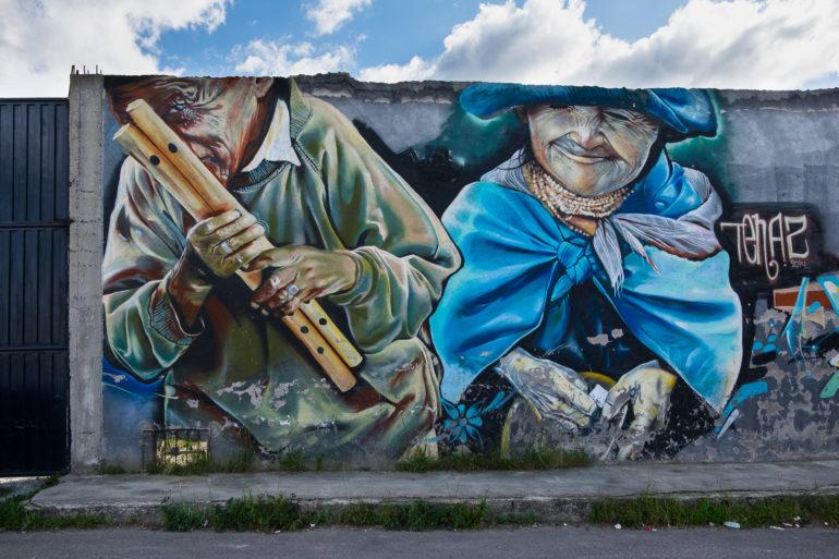 Mural w Otavalo
