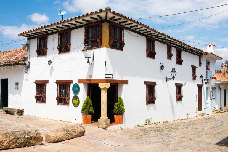 Typowy styl w centrum Villa de Leyva